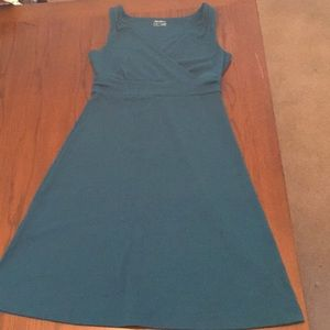 Teal Aster Crossover Dress